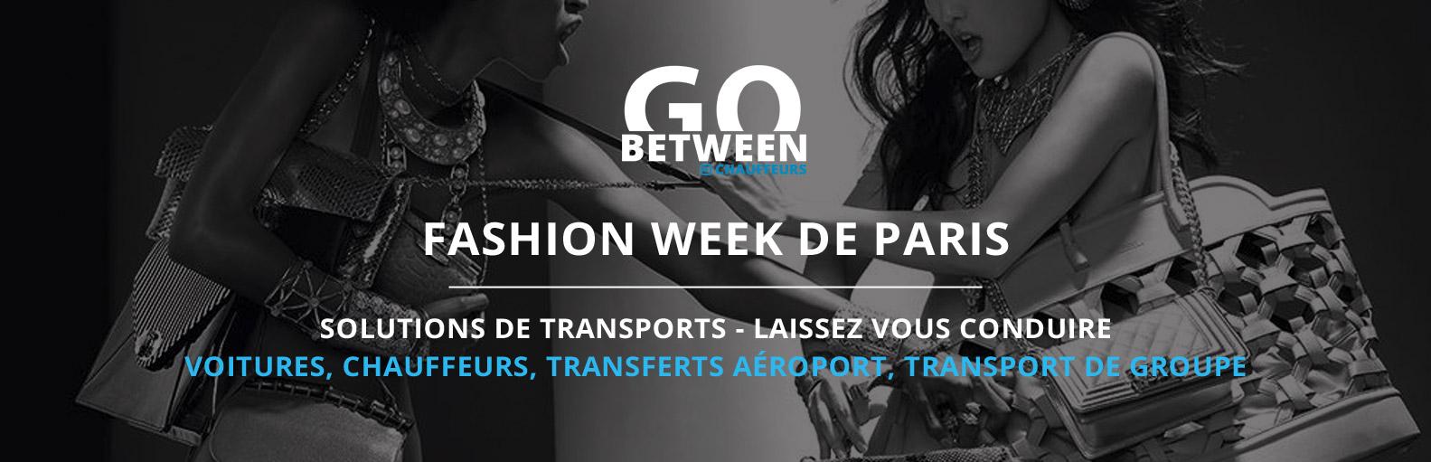 Fashion week Paris chauffeur privé VTC avec ou sans voiture